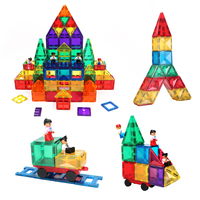 Hot selling stem colorful 100pcs kids magnet toys magnetic building tiles blocks educational toys CPSC, CE, EN71, ASTM