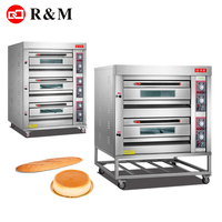 Double deck Gas bakery machines bread infrared potato baking oven rusk baking ovens