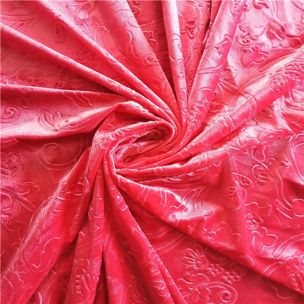 Factory products plain velour/ velvet fabric made in China