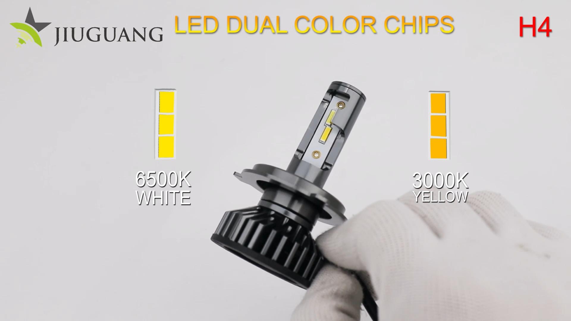 16000 Lumen Decoder ZES Cooling Fan H4 LED Car Light Bulb Mini H3 H11 9005 9006 880 H7 Led Canbus H7 F2 Led Headlights