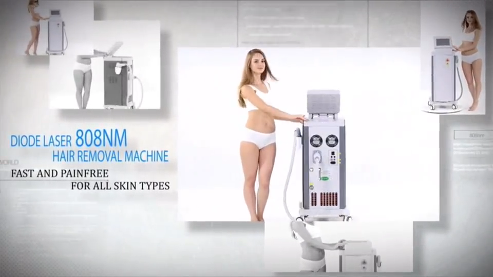 New hair removal 808 diode laser instrument Permanent Laser Diode Hair Removal Machine