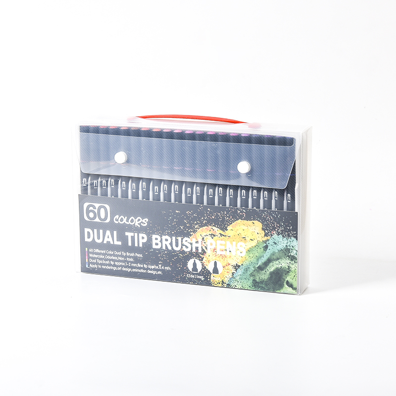 Wholesale 60colors Double triangle Tip Pens Free Sample Mark Watercolor pen For Supplier