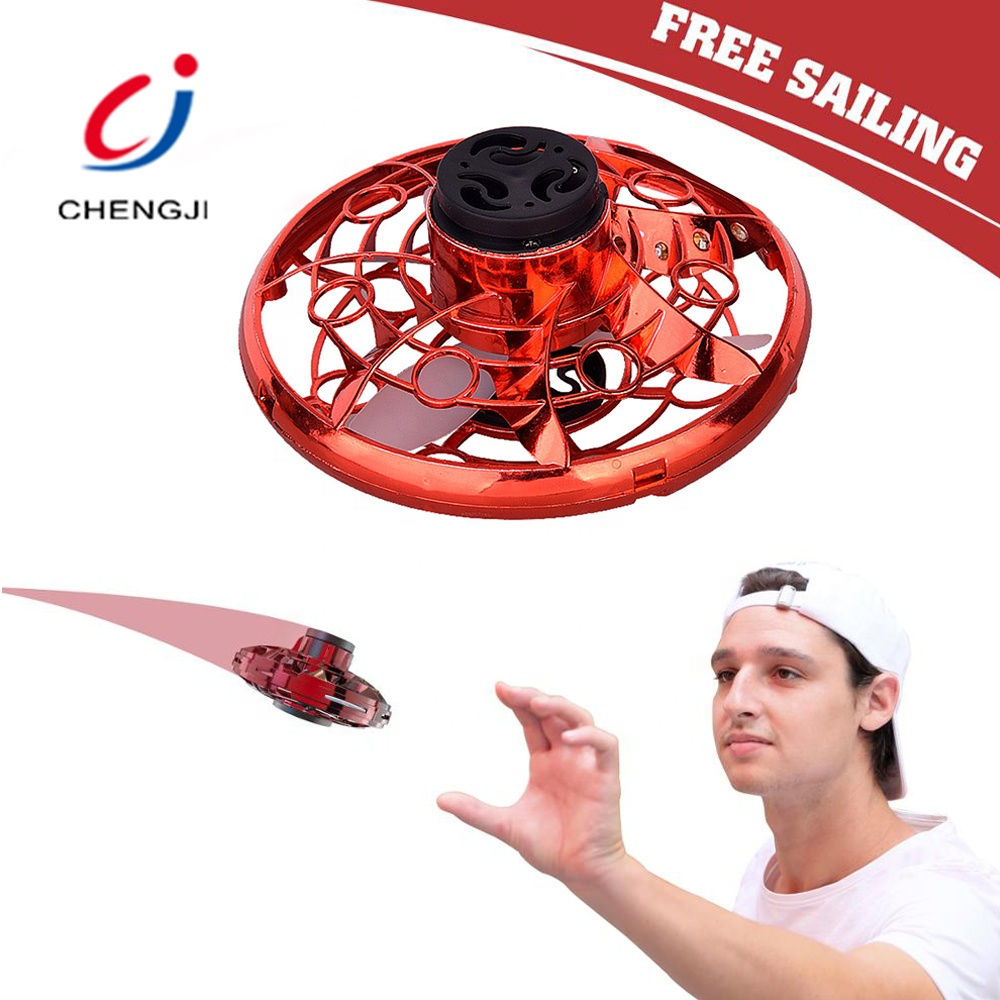 Kids Relaxing Stress Reliever Toys Steering UFO Top Spinner Finger Mini Drone Flying Spinner Toy
