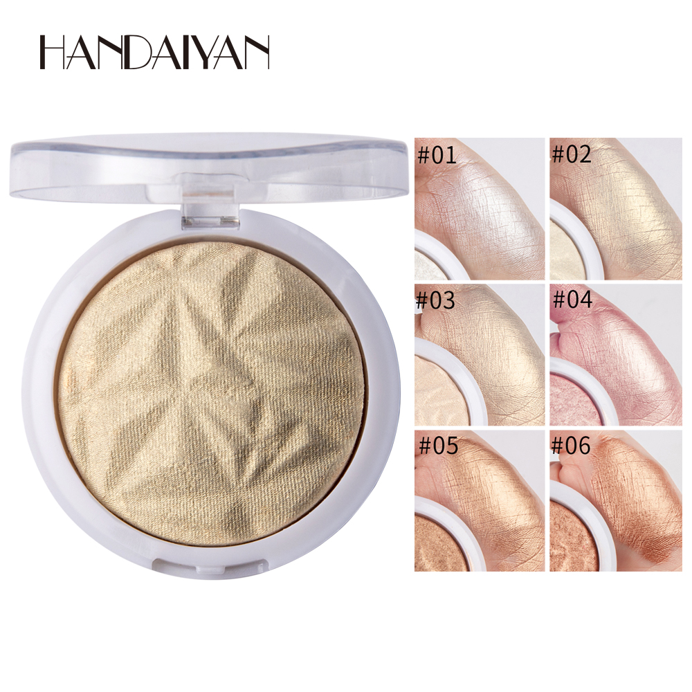 BEAUTY GLAZED Private label highlighter Long Lasting Pressed Powder 8 Colors Multi Function Highlight Powder