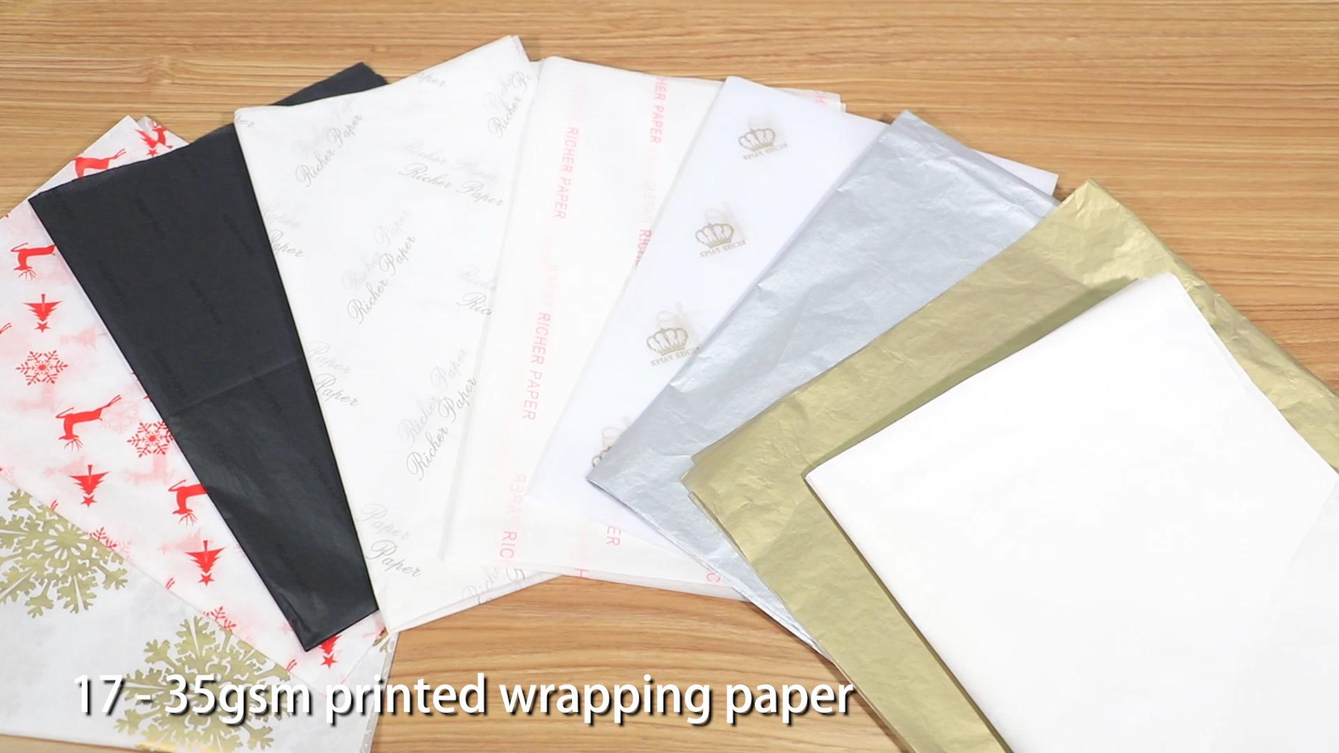 カスタム印刷されたロゴギフト包装紙衣類ティッシュペーパー