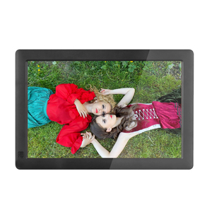 Fashionable design 10.1 inch digital photo frame made in china with auto play function for wooden wedding card