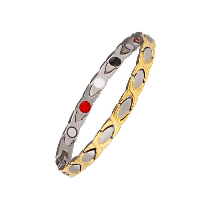 Hot Sale Migaga 316L Stainless Steel Full Magnets Or 4 In 1 Bracelet Women
