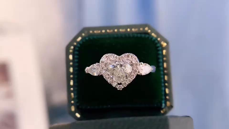 Lampu Perhiasan Aliansi Anillos Anel Cincin Emas Perhiasan Wanita, Pasangan Cincin Pertunangan Berlian, Hot Jual GIA Bersertifikat