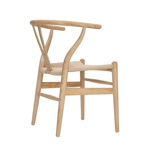 RTS Ash wood Hans Wagner/ Danish /Professional factory  Solid Wood Dining Chairs Wishbone Chair