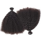 Fast shipping 4c afro kinky curly weft human hair weaving extensions