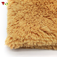 Newest excellent rabbit fur plush fabric Various uses weight 550 PV fabric for toy womans fashion slippers