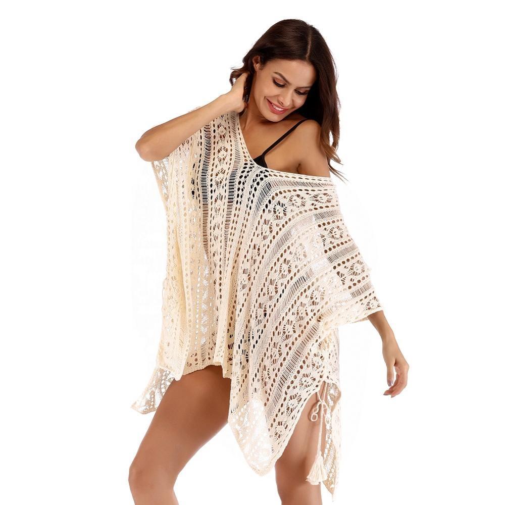 Moda mujer traje de baño Crochet túnica cubrir verano ropa de playa para la Mujer