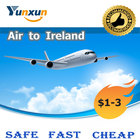 Nice price freight air service provider from China to Ireland