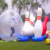 Wholesale Human zorb ball Game Giant inflatable snow bowling ball set Bowling Pins