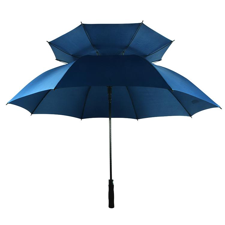 30*8K 2 שכבות ארוך פיר Custom Windproof גולף מטרייה למכירה