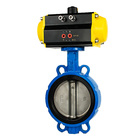 CI/DI/CS/SS body PTFE seat kitz valve Large Diameter Resilient seated Eccentric wafer Butterfly Valve