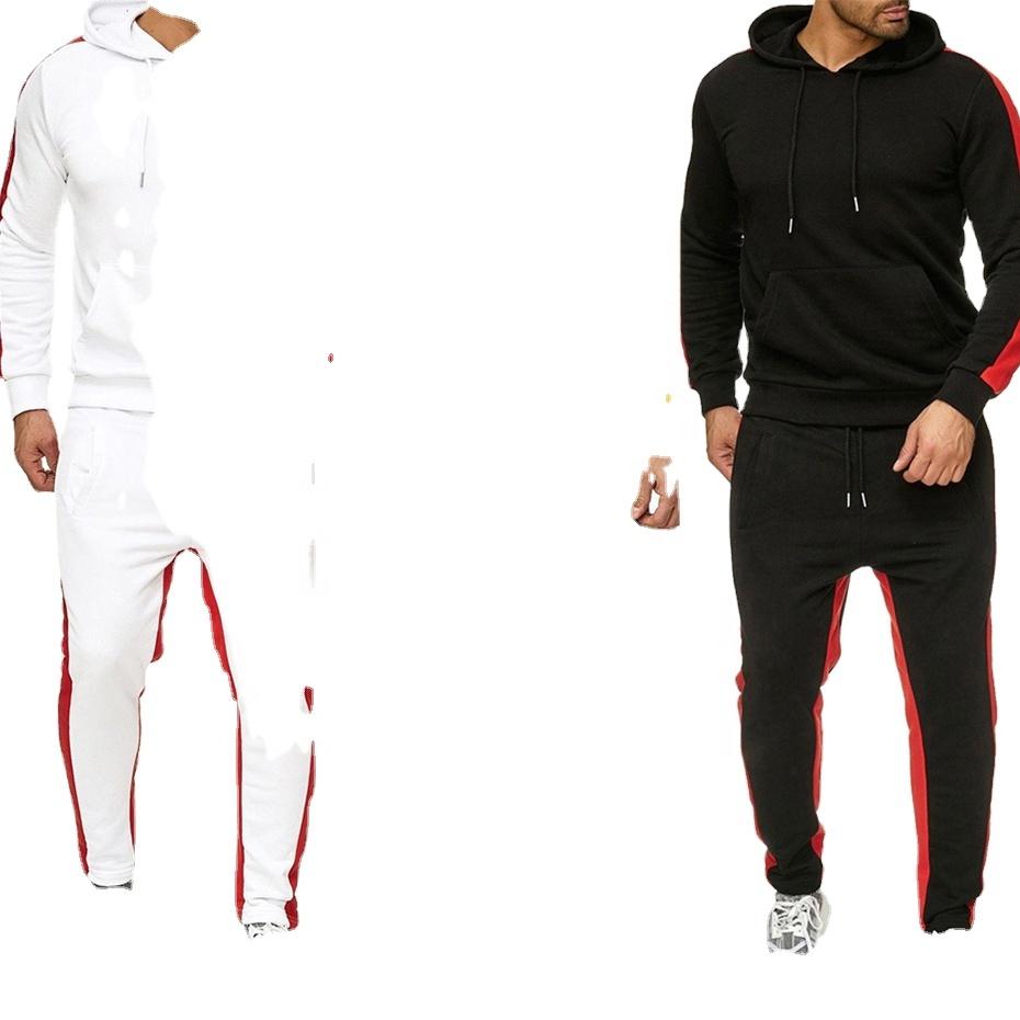 Men Clothing Track Suits Two Piece Sets Jogging wear Custom Logo OEM ODM Stripe 6 Colors Sweat Suits for Men RS00267