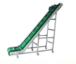 China aluminum profile gradient flexible conveyor belt climbing belt conveyor sushi container unloading conveyor