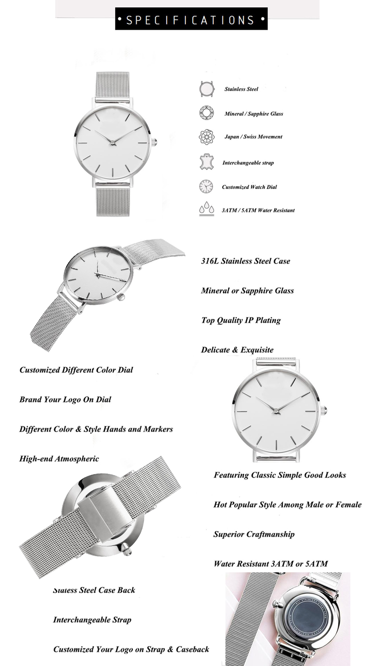 Watch Custom Logo Make Your Own Design OEM Men Watches Ultra-thin Custom Logo Watch Men Personalized