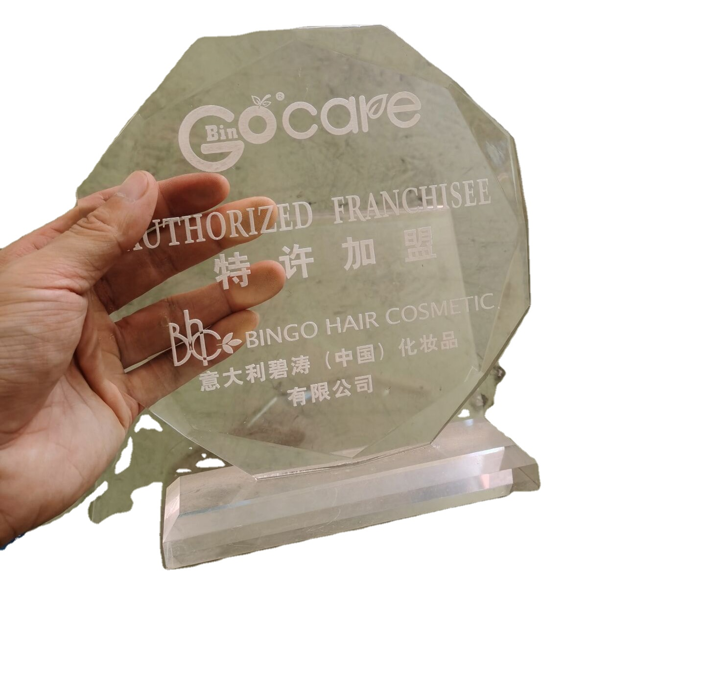 Hot sale customize display stand crystal honorary medal reward for competition game winner