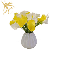 Manufacturers direct simulation horseshoe calla lily artificial wedding home decoration hand flowers