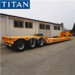 TITAN 4 Axles 80ton lowboy extendable hydraulic gooseneck lowbed low bed lowboy loader trailer