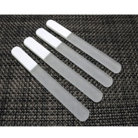 Premium Double Side White Crystal Glass Nail Art File 17.8cm