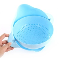 2 In 1 Kitchen Fruit Vegetables Washing Basket Colander Bowl Colander Strainer