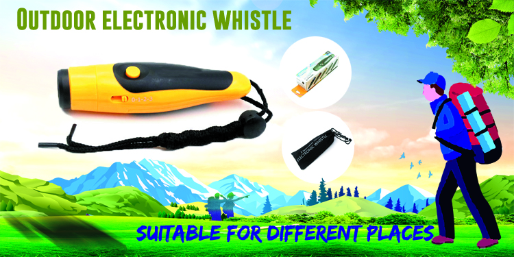 High Quality 3 Tone Electronic Whistle Custom Electronic Whistle High Frequency High Decibel Electronic Whistle