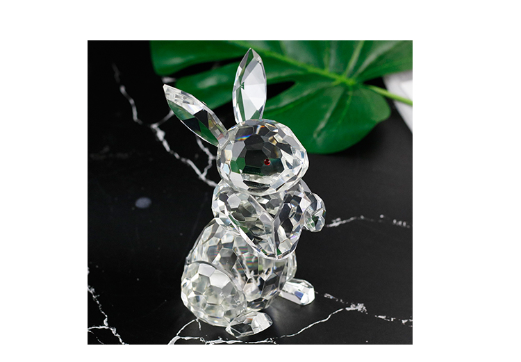 K9 crystal animal lovely rabbit home decoration