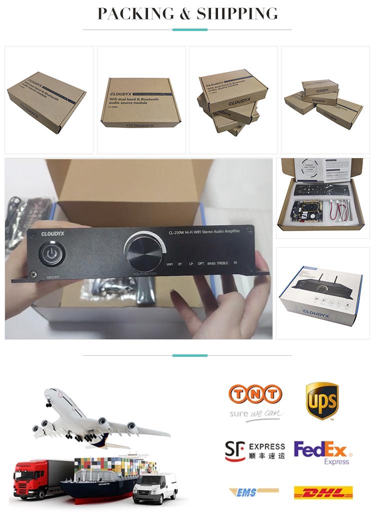 Hifi Loa Siêu Trầm WIFI Stereo Bluetooth Airplay2 Amazon MRM Vinyl Microphone Sợi Quang Âm Thanh Khuếch Đại Công Suất
