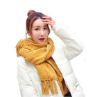 2020 new arrival chenille scarf pashmina shawl with tassels