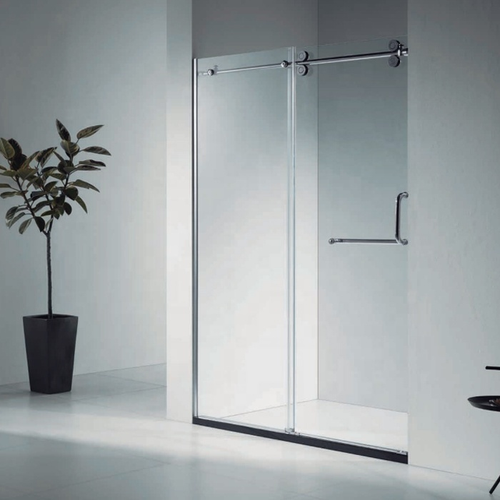 pvc plastic shower room glass doors