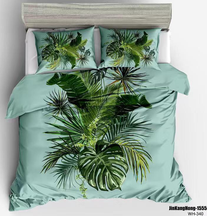 90gsm फैशन duvet कवर, 100% पॉलिएस्टर डिजिटल मुद्रित bedsheet सेट