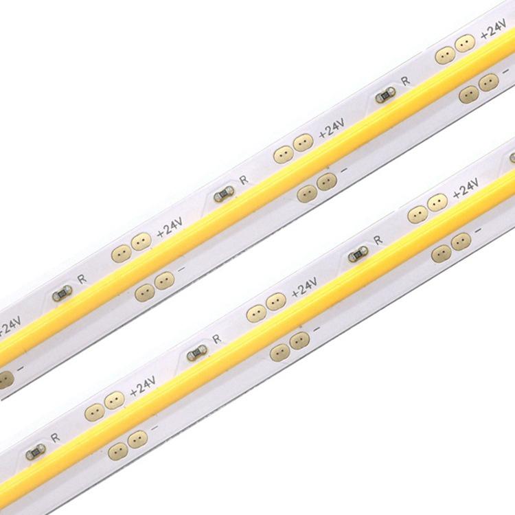 COB led strip 378 LED/M 504 LED/M DC24V led strip Light 180 degree big view angle dotless