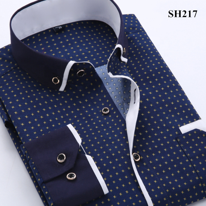 New Arrival Korean Style Fashion Printed Long Sleeve Men's <strong>Shirt</strong> Casual Business Slim Fit Male Social <strong>Shirts</strong>