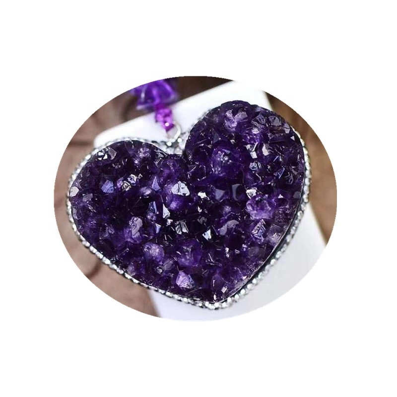 Wholesale <strong>natural</strong> new products <strong>amethyst</strong> cluster heart <strong>pendant</strong>