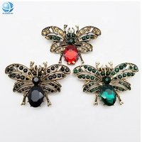 Custom elegant rhinestone bee shoe clips for women high heel party shoes