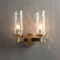 2 Head Hotel Mid Century Copper Candle Holder Wall Mounted Sconces
