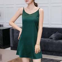 Женский халат размера плюс на тонких бретельках, ночная рубашка ZANZEA, сексуальная ночная рубашка, Летнее мини-платье с v-образным вырезом, Жен...(Китай)