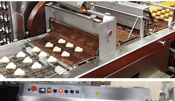 chocolate panning machine coating pan for chocolate equipment mini factory production chocolate small enrober cooling tunnel