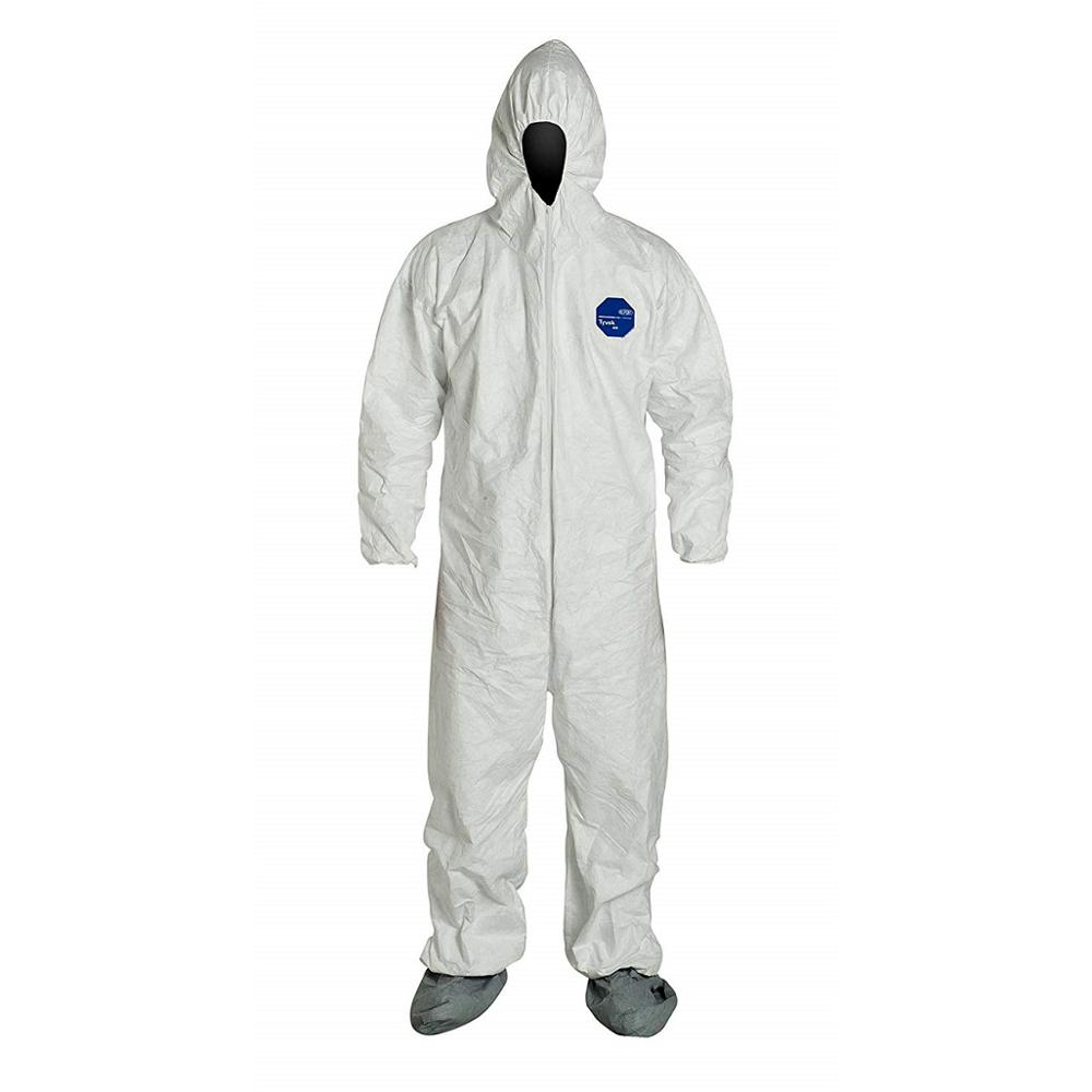 Individually Packed Disposable Protective Coverall with Elastic Cuffs, Attached Hood and Boots for PPE Vending Machines, White - KingCare | KingCare.net