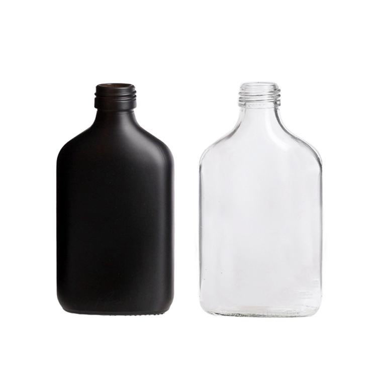50ml 100ml 200ml 250ml 350ml 500ml clear flat juice cold brew coffee glass flask bottles design
