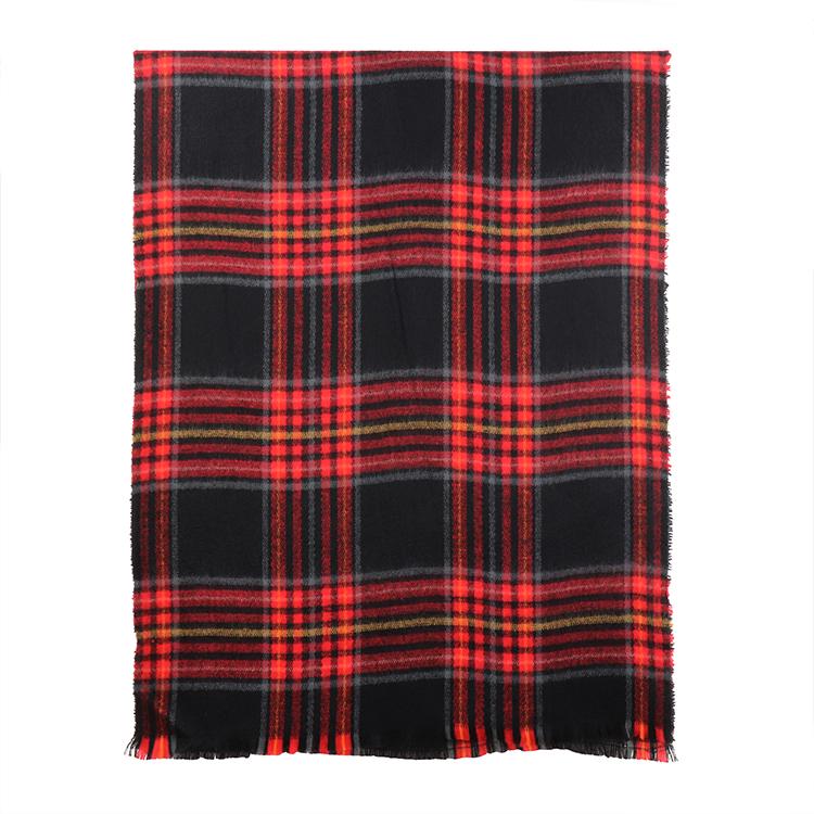 冬暖かいチェック柄スカーフ新軟質アクリルスカーフ寒冷工場女性毛布スカーフ