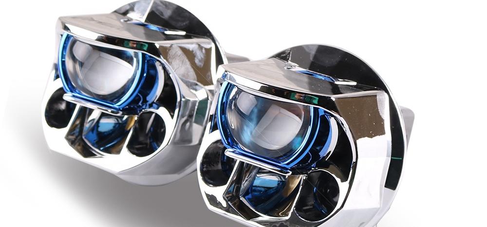 2020 SANVI Newest LK3 2.5 Inch Bi LED Laser Projector Headlight 70W 6000K Universal Car Retrofit Kits Laser Headlight for Cars