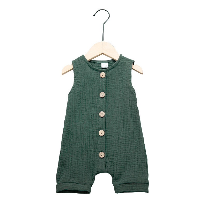 Sleeveless <strong>baby</strong> girls boy clothes romper 12months linen <strong>baby</strong> <strong>jumpsuit</strong>