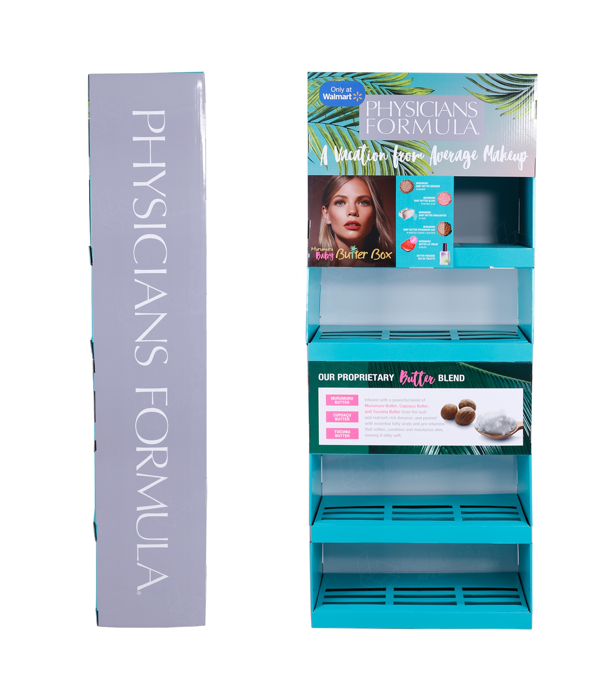 point of sale walmart makeup display stand beauty cosmetics shopping store <strong>retailing</strong> women's skin care cream display