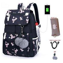 Женские школьные сумки для девочек, водонепроницаемые Рюкзаки для ноутбука, Студенческая школьная сумка, рюкзак для путешествий для женщин...(Китай)