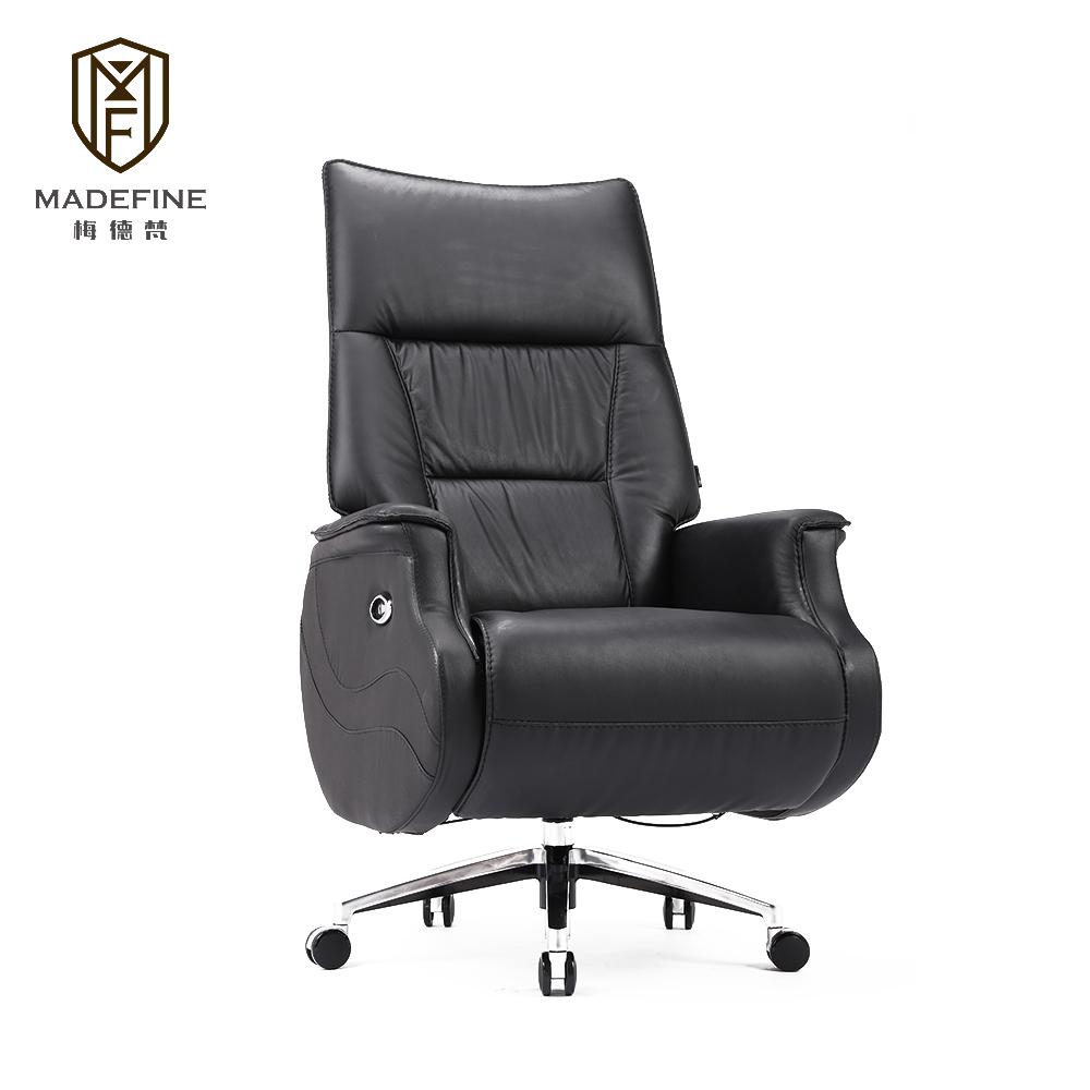 Exécutif relaxant directeur informatique roulant ergonomique ordinateur chaise de bureau de direction chaise de luxe en cuir