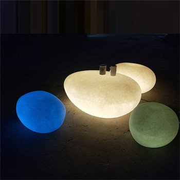Decoratie led tuinverlichting plastic stepping aquarium fish tank 7 kleur veranderende led luchtpomp bubble steen lamp